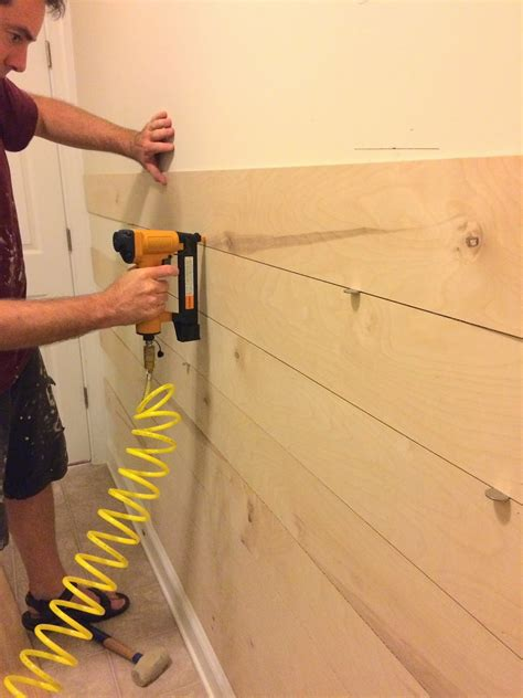 replacing wall paneling right up my alley diy ship lap wall