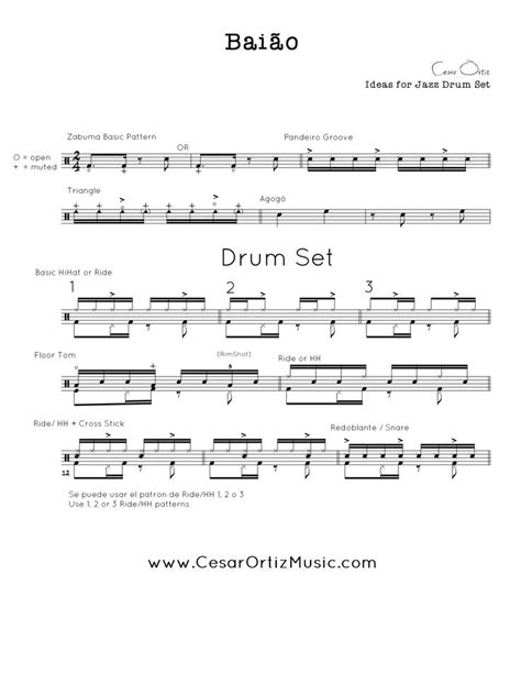 samba drum pattern midi bai 227 o jazz para bater 237 a brazilian grooves for drumset