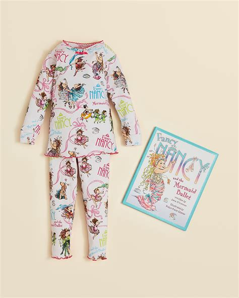 books to bed books to bed girls fancy nancy snug fit pajama book set sizes 4 6x bloomingdale s