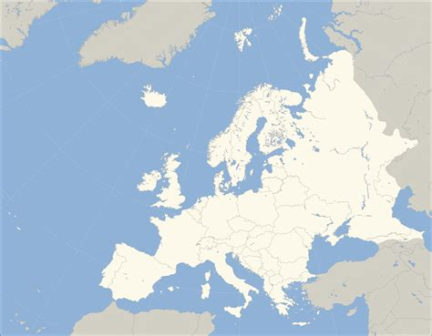 Europe Map Outline by Europe Outline Map Full Size