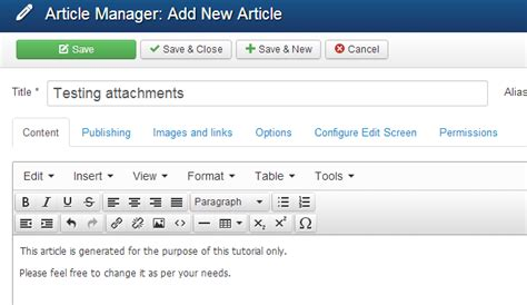 joomla tutorial article manager how to add attachments joomla tutorial fastcomet