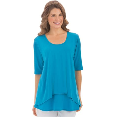 womens knit tops womens tier sleeve knit top plus size by