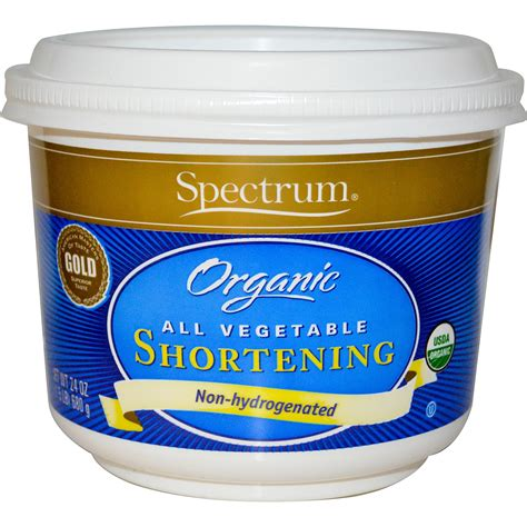 spectrum naturals organic all vegetable shortening 24 oz 680 g iherb com