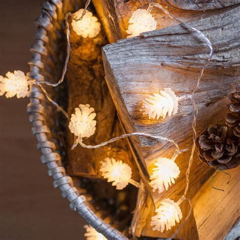 2 meters set 220v christmas pine cone led string light