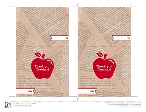 printable apple gift cards ruff draft free printable gift card holder for teacher