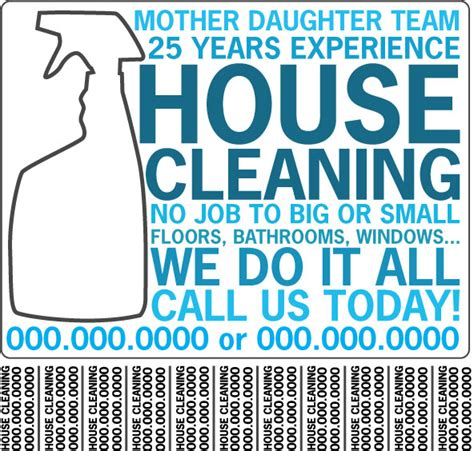 residential cleaning flyers free cleaning house house cleaning flyers