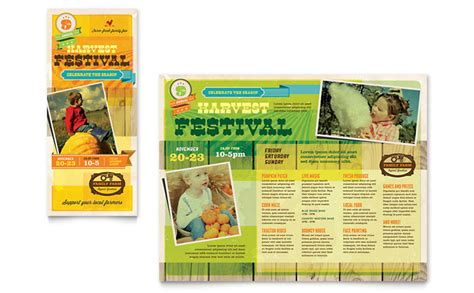 Festival Brochure Template by Harvest Festival Brochure Template Design