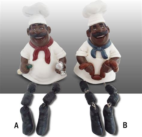 Black Chef Kitchen Decor by Black Chef Kitchen Figure Shelf Sitter Decor Complete