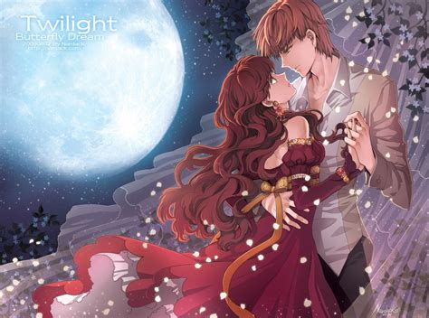 anime couple wallpaper collection romantic love couple kissing love
