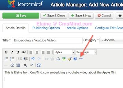 video tutorial joomla 3 0 how to embed a video from youtube into joomla 3 0