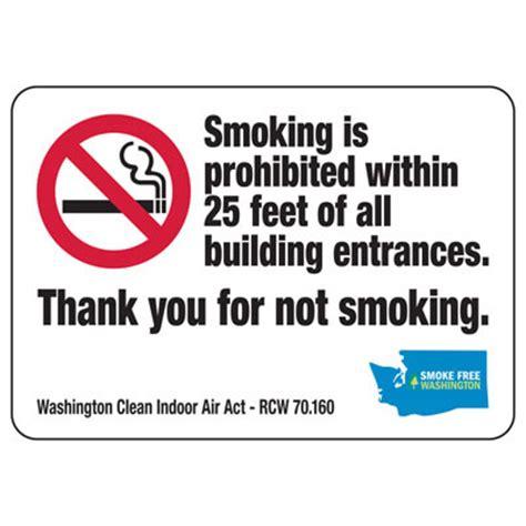 no smoking sign washington state thank you for not smoking washington no smoking sign