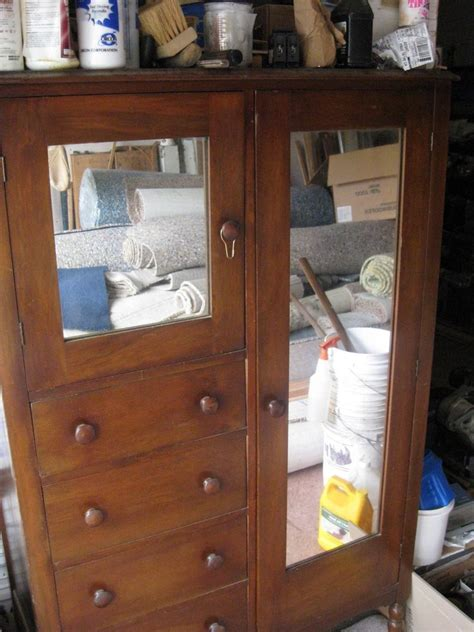 antique armoire with drawers vintage wood armoire wardrobe chest of drawers mirror