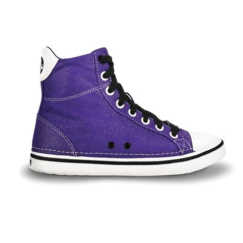 Crocs Hover Sneaker Junior Original crocs hover sneak hi top ultraviolet black retro styled classic sneaker with canvas