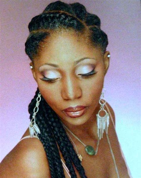 big french braids hairstyles using human hair for goddess braids goddess