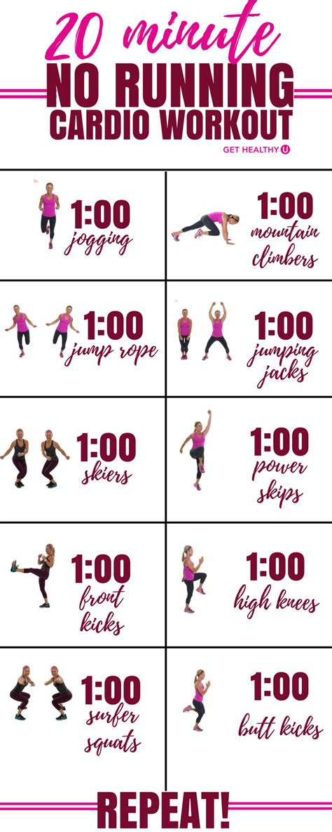 20 minute no running cardio workout