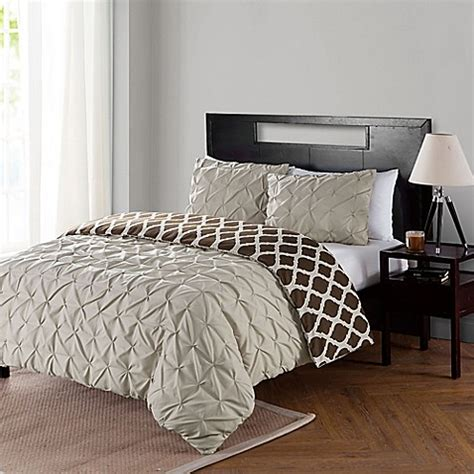 bed bath and beyond scottsdale vcny home scottsdale reversible duvet cover set bed bath