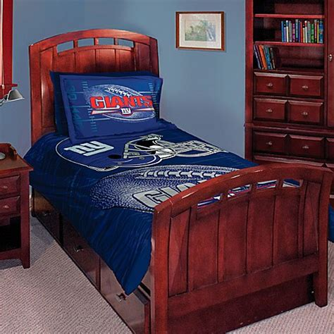 ny giants bedding nfl new york giants twin full comforter set bed bath