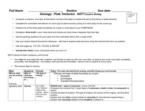 Plate Boundaries Worksheet Answers by 15 Best Images Of Types Of Boundaries Worksheet