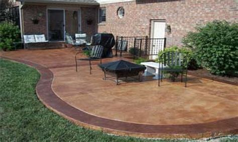 stained cement patio benches outdoors concrete patio resurfacing ideas stain