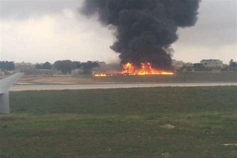 plane crash malta plane crash crew members among five killed in crash