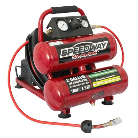 speedway emergency car jump starter and compressor with rechargeable battery 7226 the home depot