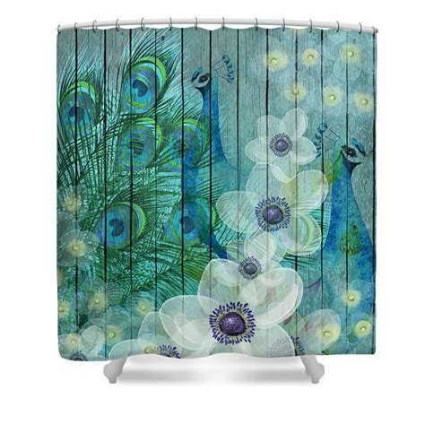 peacock shower curtains peacock shower curtain teal floral faux wood peacock