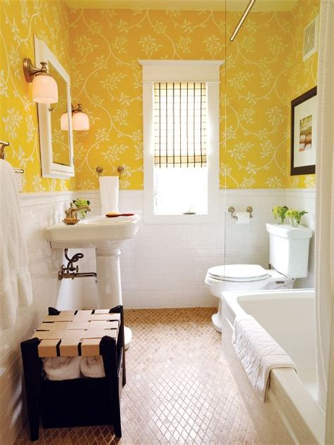 sunny bathroom photo yellow the color of happiness an extraordinary day