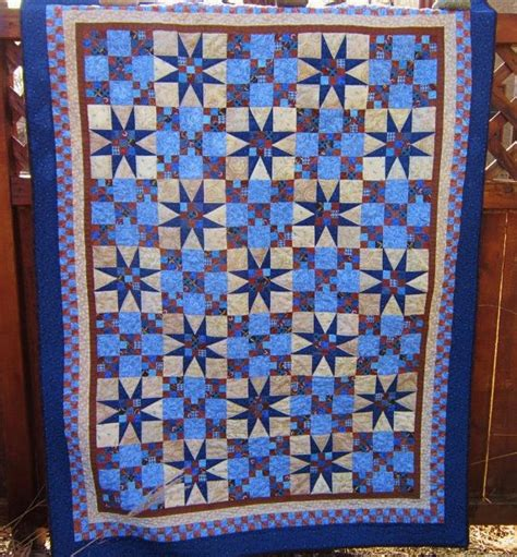 Brown Blue Quilt by Quilt In Blue And Brown