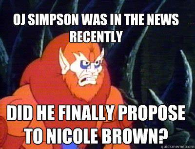 Oj Simpson Memes - nicole brown dustin brown memes