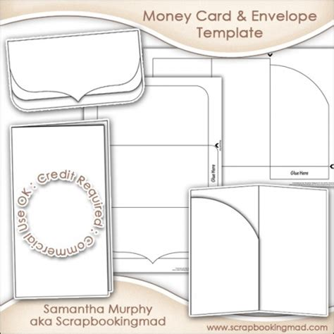 Money Gift Card Envelope Template Commercial Use 163 3 50 Scrapbookingmad Com Gift Card Holder Template 2