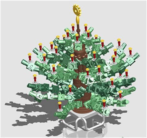 traceparts second christmas tree design contest digital