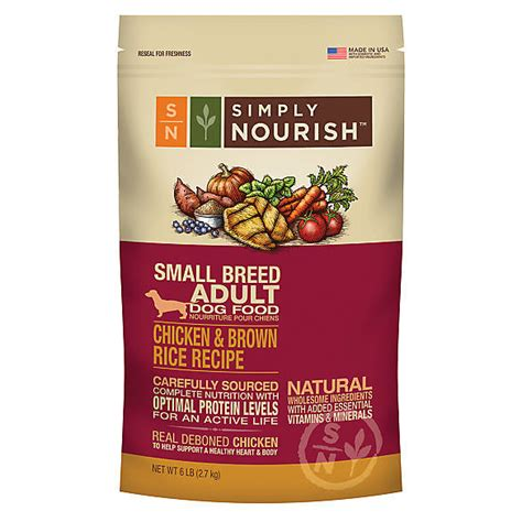 simply nourish food simply nourish small breed food chicken brown rice