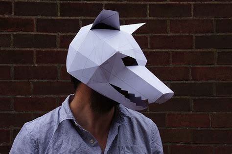 How To Make Scary Masks Out Of Paper - diy geometric paper masks that you can print out at home