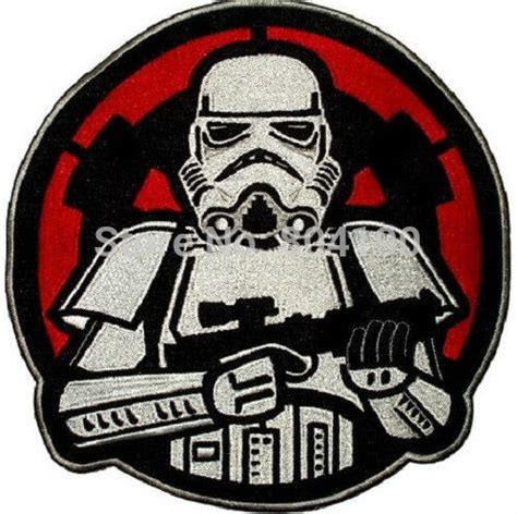 Iron Patch Esgotado Wars Trooper 3 quot wars stormtrooper with empire logo back darth vader embroidered iron on