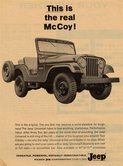 vintage jeep ad thank you john predgen part 1 vintage jeep ads