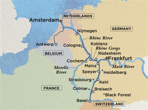 rhine germany map dreaming about a rhine cruise which section do we need to