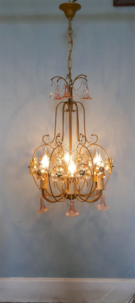 chandelier light fitting antiques atlas pink glass chandelier light fitting