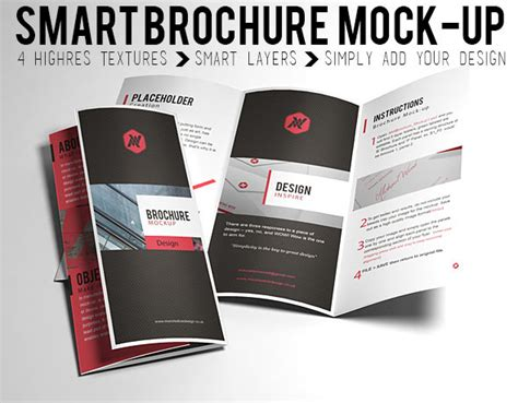 tri fold brochure template mockup