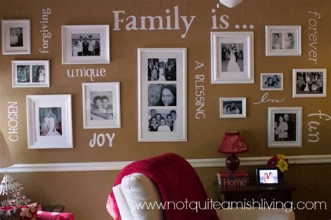 decorating with family pictures share your family values in your home decor not quite amish