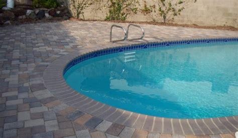 ideas  stone pool deck design