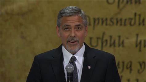 on george george clooney speaks on armenian genocide and refugee