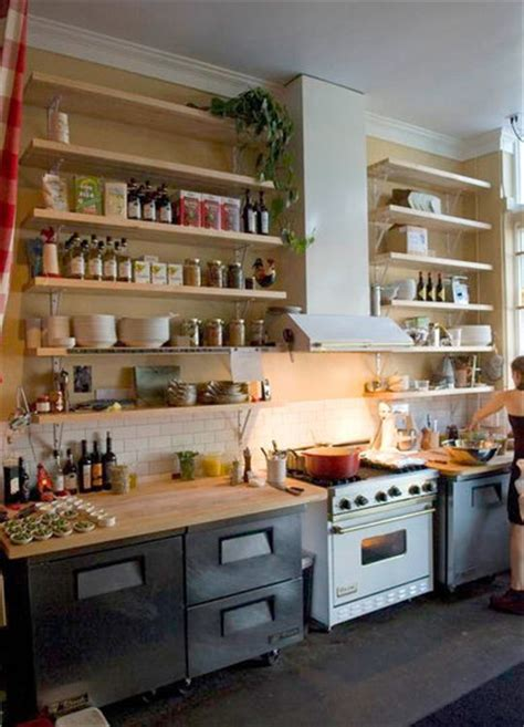 open shelves kitchen open kitchen shelves cabinets truffles magazine