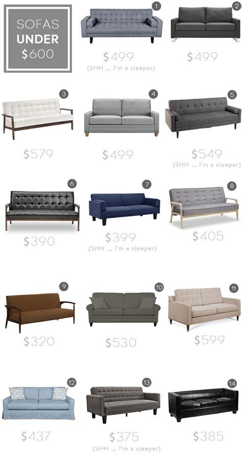 sofas under 600 best sofas under 600 budget sofa jlm designs