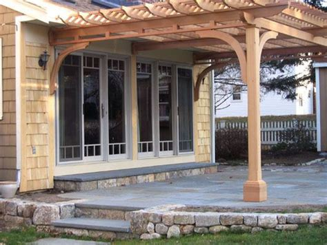 pergola attached  house pictures google search arbor