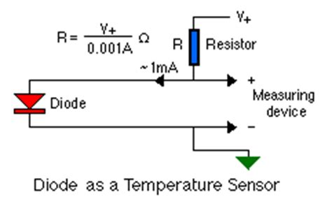 diode as thermal sensor simple temperature sensor circuit using 1n4148 diode electronic circuits diagram