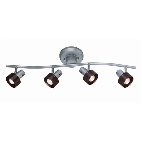 ls plus track lighting illumine 4 light silver track lighting wall l cli