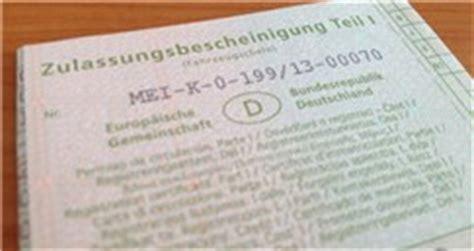 Fahrzeugschein Im Auto by Fahrzeugschein Im Auto Mitf 252 Hren Kopie Oder Original