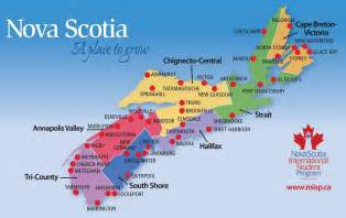 halifax scotia canada map home ns international student program