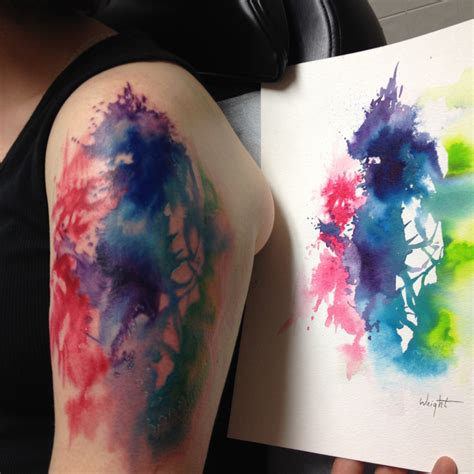 watercolor tattoo questions abstract watercolor tattoo shoulder www imgkid com the