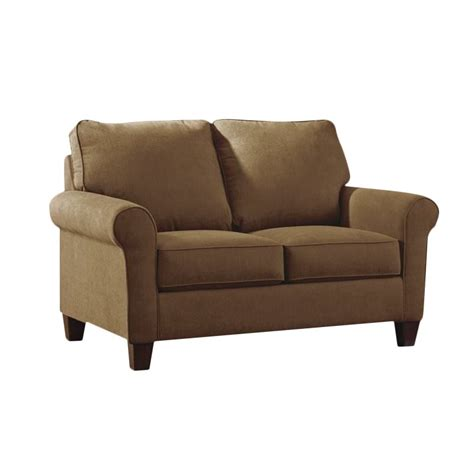 twin loveseat sleeper ashley zeth fabric twin size sleeper sofa in basil 2710337